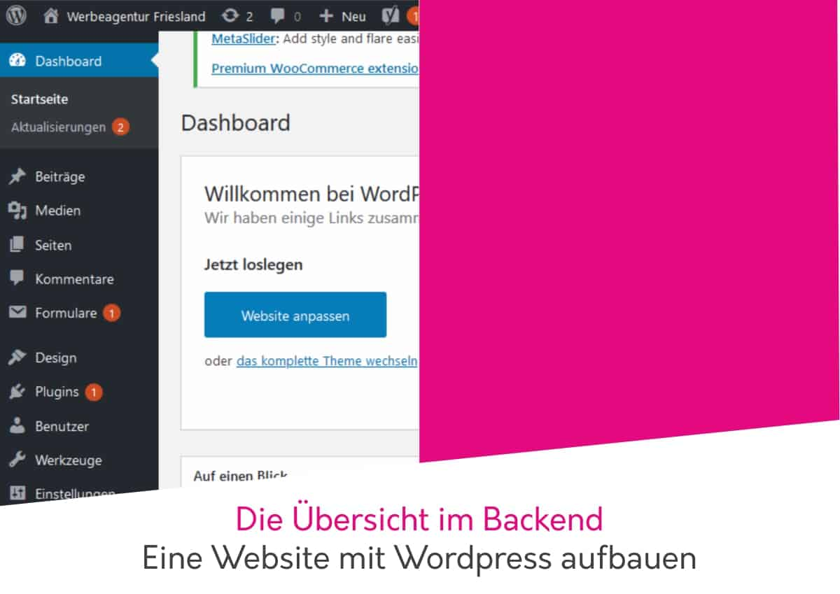 wordpress schulung administrationsbereich